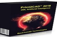 Download Print2CAD 2018 v18 Full Crack (x64)