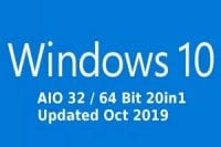 Windows 10 AIO 32bit 64Bit 20in1 Updated Oct 2019 Crack Download