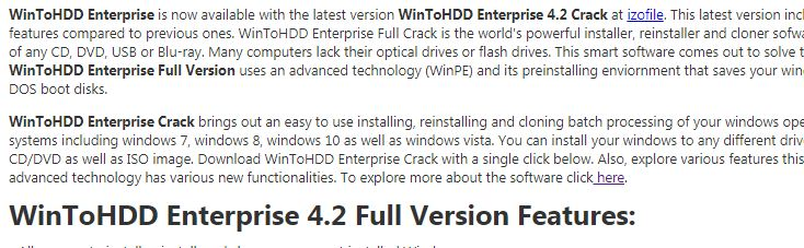 WinToHDD Enterprise 4.2 Cracked Free Download